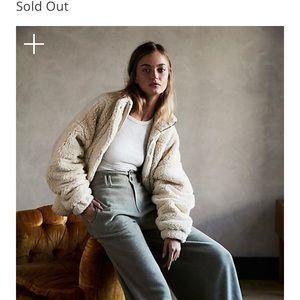 NWT free people faux fur jacket